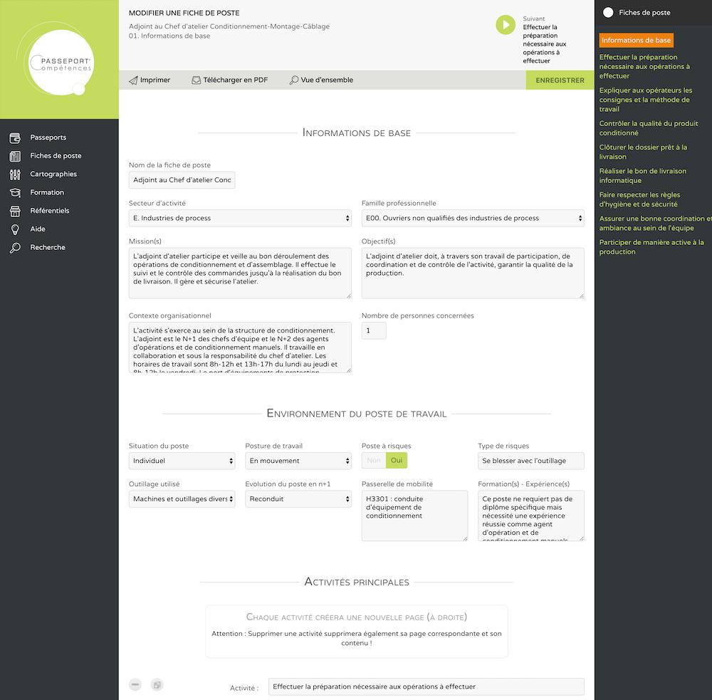 ApplicationPasseport Compétences®